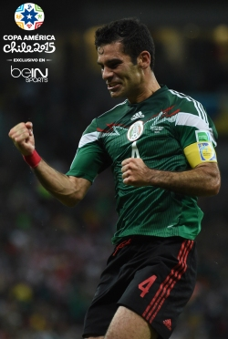 Mexico's defender Rafael Marquez celebrates after scoring the 0-1 during a Group A football match between Croatia and Mexico at the Pernambuco Arena in Recife during the 2014 FIFA World Cup on June 23, 2014. AFP PHOTO / YURI CORTEZ