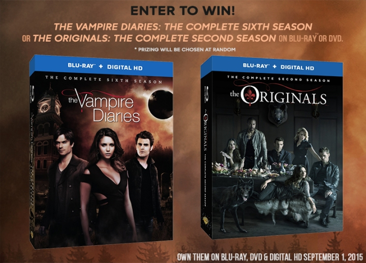 Enter to Win: The Vampire Diaries: The Complete 6th Season OR The Originals: The Complete 2nd Season