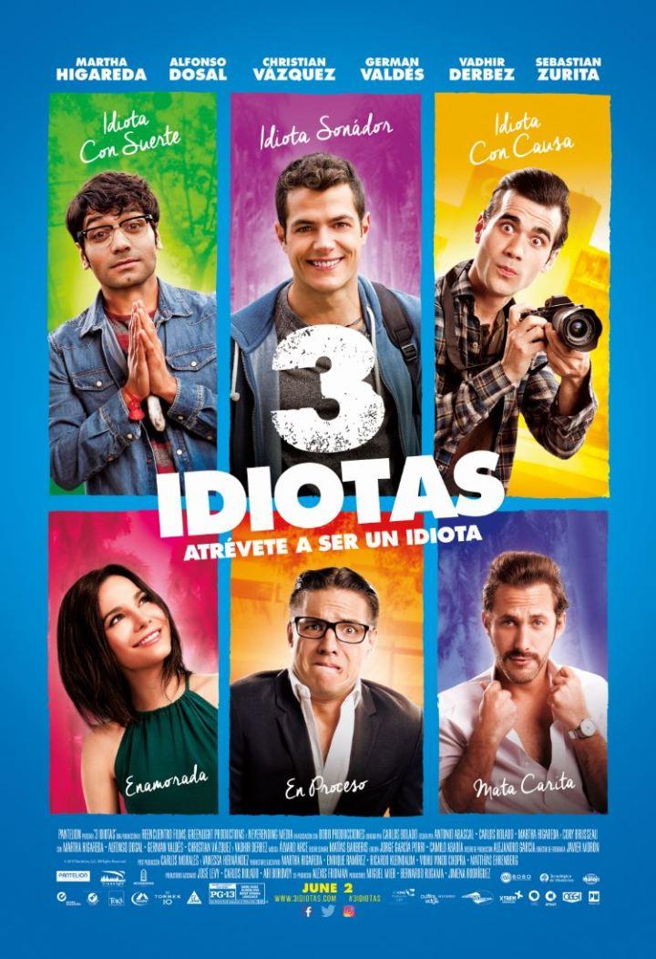 Vadhir Derbez returns to the big screen in 3IDIOTAS