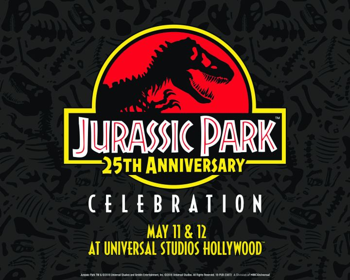 Jurassic Park 25th Anniversary Celebration Roars to Life on May 11-12 at Universal Studios Hollywood