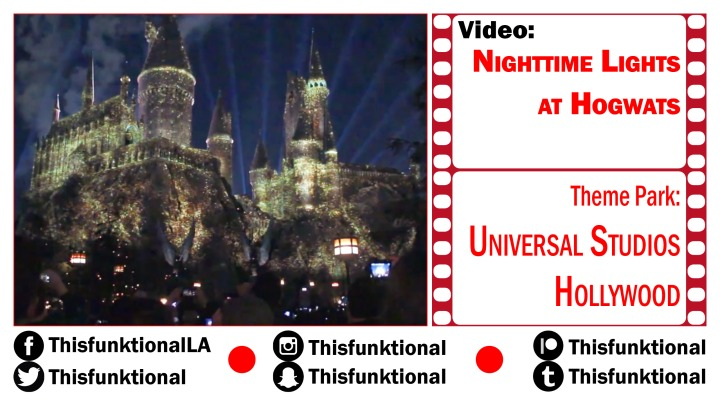 @Thisfunktional attends THE NIGHTTIME LIGHTS AT HOGWARTS Universal Studios Hollywood