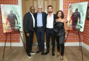 "NEW YORK, NY - JULY 10: (L-R) Forest Whitaker, Paul Schiff, Kat Graham and Theo James attend the ""How It Ends"" Screening hosted by Netflix at Crosby Street Hotel on July 10, 2018 in New York City. (Photo by Monica Schipper/Getty Images for Netflix) *** Local Caption *** Kat Graham; Theo James; Forest Whitaker; Paul Schiff"