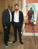 """NEW YORK, NY - JULY 10: Forest Whitaker (L) and Theo James attend the """"How It Ends"""" Screening hosted by Netflix at Crosby Street Hotel on July 10, 2018 in New York City. (Photo by Monica Schipper/Getty Images for Netflix) *** Local Caption *** Theo James; Forest Whitaker"""