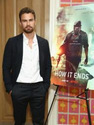 "NEW YORK, NY - JULY 10: Theo James attends the ""How It Ends"" Screening hosted by Netflix at Crosby Street Hotel on July 10, 2018 in New York City. (Photo by Monica Schipper/Getty Images for Netflix) *** Local Caption *** Theo James"