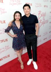 CULVER CITY, CA - AUGUST 16: Alex Shibutani (right) and guest attend Netflix's 'To All the Boys I've Loved Before' Los Angeles Special Screening at Arclight Cinemas Culver City on August 16, 2018 in Culver City, California. (Photo by Charley Gallay/Getty Images for Netflix) *** Local Caption *** Alex Shibutani