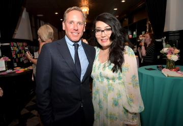 CULVER CITY, CA - AUGUST 16: Netflix Director of Content Acquisitions Matt Brodlie and Jenny Han attend the afterparty for Netflix's 'To All the Boys I've Loved Before' Los Angeles Special Screening at The Culver Hotel on August 16, 2018 in Culver City, California. (Photo by Charley Gallay/Getty Images for Netflix) *** Local Caption *** Matt Brodlie;Jenny Han