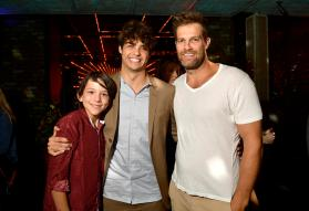 HOLLYWOOD, CA - AUGUST 30: Cochise Zomosa, Noah Centineo and Geoff Stults attend the Los Angeles Premiere of the Netflix Film Sierra Burgess is a Loser at Arclight Hollywood on August 30, 2018 in Hollywood, California. (Photo by Matt Winkelmeyer/Getty Images for Netflix) *** Local Caption *** Cochise Zomosa; Noah Centineo; Geoff Stults