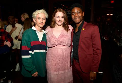 HOLLYWOOD, CA - AUGUST 30: Troye Sivan, Shannon Purser and RJ Cyler attend the Los Angeles Premiere of the Netflix Film Sierra Burgess is a Loser at Arclight Hollywood on August 30, 2018 in Hollywood, California. (Photo by Matt Winkelmeyer/Getty Images for Netflix) *** Local Caption *** Troye Sivanr; Shannon Purser; RJ Cyler