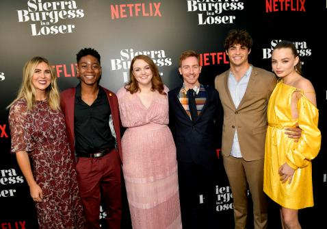 HOLLYWOOD, CA - AUGUST 30: Producer Rachel Smith, RJ Cyler, Shannon Purser, Director Ian Samuels, Noah Centineo and Kristine Froseth attend the Los Angeles Premiere of the Netflix Film Sierra Burgess is a Loser at Arclight Hollywood on August 30, 2018 in Hollywood, California. (Photo by Matt Winkelmeyer/Getty Images for Netflix) *** Local Caption *** RJ Cyler; Shannon Purser; Noah Centineo; Kristine Froseth; Ian Samuels; Rachel Smith
