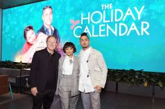 "LOS ANGELES, CALIFORNIA - OCTOBER 30: (L-R) Producer Brad Krevoy, Kat Graham and Quincy Brown attend ""The Holiday Calendar"" Special Screening Los Angeles at NETFLIX Icon Building on October 30, 2018 in Los Angeles, California. (Photo by Charley Gallay/Getty Images for Netflix)"