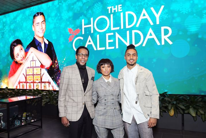 "LOS ANGELES, CALIFORNIA - OCTOBER 30: (L-R) Ron Cephas Jones, Kat Graham and Quincy Brown attend ""The Holiday Calendar"" Special Screening Los Angeles at NETFLIX Icon Building on October 30, 2018 in Los Angeles, California. (Photo by Charley Gallay/Getty Images for Netflix)"