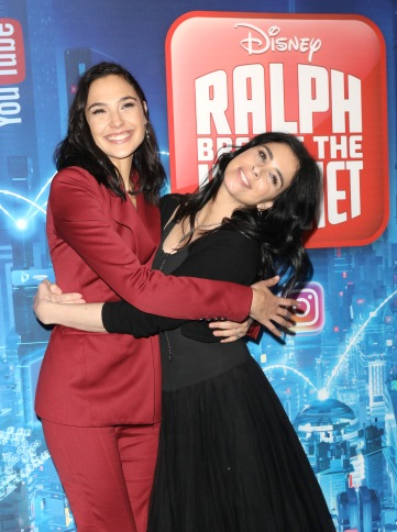 "LONDON, ENGLAND - NOVEMBER 25: Gal Gadot and Sarah Silverman attend the UK Premiere of Disney's ""Ralph Breaks The Internet"" at the Curzon Mayfair on November 25, 2018 in London, United Kingdom. (Photo by Tristan Fewings/Getty Images for Disney)"