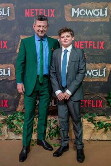 Mowgli World Premiere, Mumbai, November 25, 2018 (L-R) Andy Serkis and Louis Ashbourne Serkis (Photographer - Ritam Banerjee / Netflix)