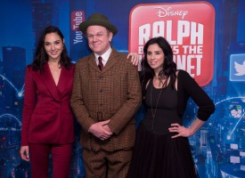 LONDON, ENGLAND - NOVEMBER 25: Gal Gadot, John C Reilly and Sarah Silverman attend the UK Premiere of Disney's 'Ralph Breaks The Internet' at the Curzon Mayfair on November 25, 2018 in London, United Kingdom. (Photo by StillMoving.net for Disney)