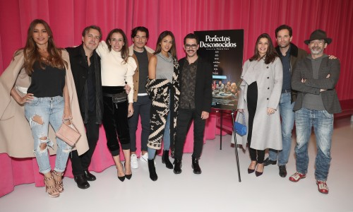 Sofia Vergara, Guests, Manolo Vergara, Eiza Gonzalez and Director Manolo Caro, Barbara Coppel, Alejandra Amaya and Bruno Bichir