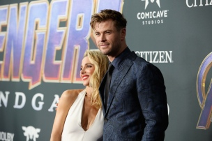 "LOS ANGELES, CA - APRIL 22: (L-R) Elsa Pataky and Chris Hemsworth attend the Los Angeles World Premiere of Marvel Studios' ""Avengers: Endgame"" at the Los Angeles Convention Center on April 23, 2019 in Los Angeles, California. (Photo by Jesse Grant/Getty Images for Disney) *** Local Caption *** Chris Hemsworth; Elsa Pataky"