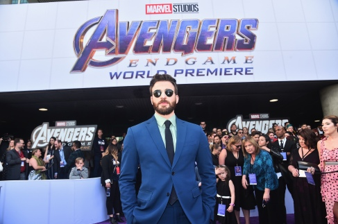 "LOS ANGELES, CA - APRIL 22: Chris Evans attends the Los Angeles World Premiere of Marvel Studios' ""Avengers: Endgame"" at the Los Angeles Convention Center on April 23, 2019 in Los Angeles, California. (Photo by Alberto E. Rodriguez/Getty Images for Disney) *** Local Caption *** Chris Evans"