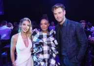 "LOS ANGELES, CA - APRIL 22: (L-R) Elsa Pataky, Tessa Thompson and Chris Hemsworth attend the Los Angeles World Premiere of Marvel Studios' ""Avengers: Endgame"" at the Los Angeles Convention Center on April 23, 2019 in Los Angeles, California. (Photo by Jesse Grant/Getty Images for Disney) *** Local Caption *** Chris Hemsworth; Tessa Thompson; Elsa Pataky"