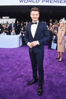 "LOS ANGELES, CA - APRIL 22: Jeremy Renner attends the Los Angeles World Premiere of Marvel Studios' ""Avengers: Endgame"" at the Los Angeles Convention Center on April 23, 2019 in Los Angeles, California. (Photo by Alberto E. Rodriguez/Getty Images for Disney) *** Local Caption *** Jeremy Renner"