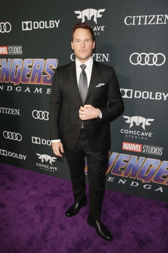 "LOS ANGELES, CA - APRIL 22: Chris Pratt attends the Los Angeles World Premiere of Marvel Studios' ""Avengers: Endgame"" at the Los Angeles Convention Center on April 23, 2019 in Los Angeles, California. (Photo by Jesse Grant/Getty Images for Disney) *** Local Caption *** Chris Pratt"