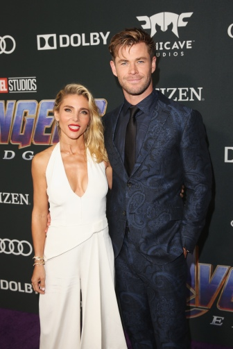 "LOS ANGELES, CA - APRIL 22: Chris Hemsworth (R) and Elsa Pataky attend the Los Angeles World Premiere of Marvel Studios' ""Avengers: Endgame"" at the Los Angeles Convention Center on April 23, 2019 in Los Angeles, California. (Photo by Jesse Grant/Getty Images for Disney) *** Local Caption *** Chris Hemsworth; Elsa Pataky"